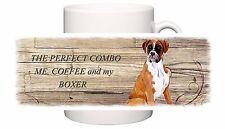 BOXER DOG NEW  CERAMIC MUG COMBO SANDRA COEN ARTIST WATERCOLOUR PRINT