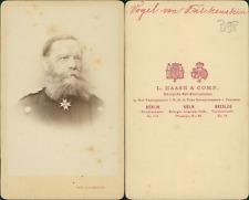 Haase, Berlin, Vogel von Falkenstein  Vintage albumen print CDV.Eduard Ernst F