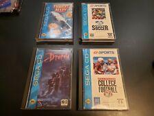 Lot of 4 Sega CD games - Tomcat Alley, Dracula, College Football, FIFA (all CIB)