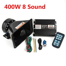 8Sound Car Alarm Police Fire Siren Horn Speaker Wireless Amplifier PA MIC System