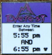 "P2 Disney Pin Hidden Mickey Series Fast Pass ""Everest"" 1 Of 4"
