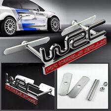 NEW JDM WRC Metal Red Rally Front Grille Grill Badge Emblem Decals