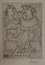 Limited edition CUBISM dry point, Lovers, signed Pablo Picasso w DOCS