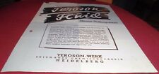 reklame blatt teroson fluid werk heidelberg dichtung alt werbung 1941 top deko