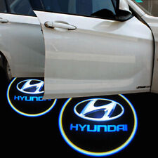 2x Wireless LED Door Step Courtesy Light Laser Shadow Logo Projector For Hyundai