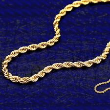 NEU 2 mm Kordelkette Goldkette 375er Gelbgold 45 cm echt Gold Kette 9 Karat