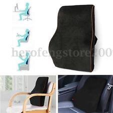 Black Memory Foam Car Back Pillow Cushion Lumbar Support Home Office Seat Chair