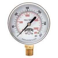 WINTERS PEM217LF Gauge,Pressure,0 to 300 psi,2-1/2 in.
