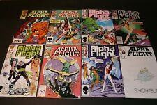 Lot of 8 Bronze Alfa Flight Marvel Comics, good readable condition