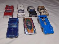 Lot of 7 Vintage Hot Wheels REDLINES P-917, Police Car, Fire Truck, Ambulance