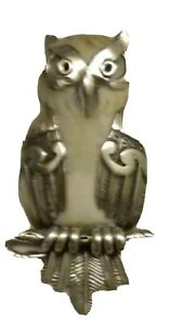 Ancient Mammoth Ivory Silver Owl Pendant – Wise One