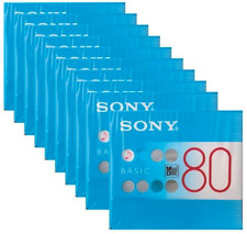 Sony MD Blank Minidisc 80 Minutes Recordable MD MDW80BC 10 disk set (#Japan)