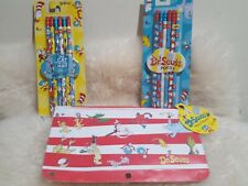 Dr. Seuss Pencil Pouch w/ Cat and the Hat and Dr.Seuss Pencils NWT