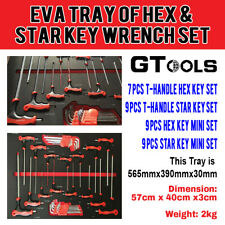 33 Piece Hex Key Wrench Tray Set with Wrench Modular Garage Sets - GT-1006