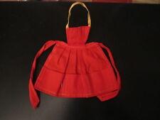 Vintage Mattel Barbie red apron 1960s