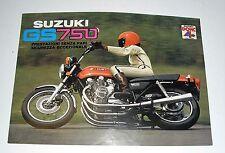 SUZUKI GS 750  scheda pubblicitaria concessionaria MOTO apribile