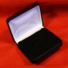 """New listing Black Leatherette Case For Single Coin Storage/Display For """"H"""" Type Direct Fit"""