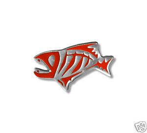 G. LOOMIS SKELETON FISH PIN -RED