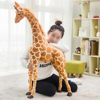 60CM Plush Giraffe Doll Large Stuffed Animals Soft Toys Gift UK Seller F8A