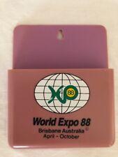 World Expo 88 Souvenir Magnetic Letter Pen Holder