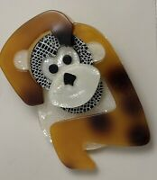 Adorable Monkey large Brooch In acrylic