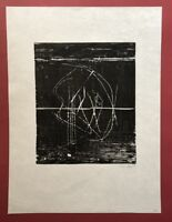 Ingo Regel, ohne Titel, Holzdruck, 1989, handsigniert und datiert