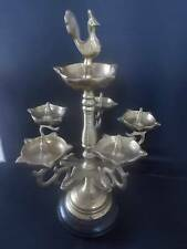 Vintage Solid Brass Persian Candleabra Candle Holder Incense Burner CentrePiece