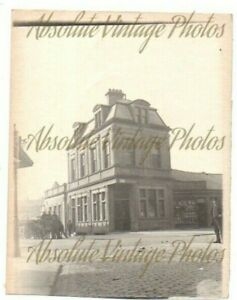 OLD PHOTOGRAPH VICTORIA ROAD POST OFFICE MORECAMBE LANCS VINTAGE C.1900