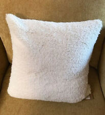 "Pottery Barn Faux Ivory Sheepskin Pillow Cover Super Soft 26"" sq. - New with Tag"