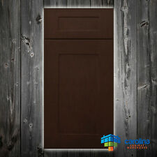 All Solid Wood RTA Cabinet Sample Door, Wood Kitchen Cabinets, Color: Dark Brown