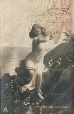 Risque Lady old vintage erotic photo postcard nudo artistico