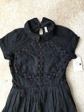 Adorable Free People / Bloomingdales Cotton Crochet  Mesh Dress SZ 2 NWT