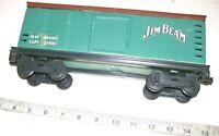 Rare JIM BEAN Empty Whiskey Bottle Decanter Green JB Box Car Train Car