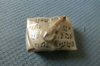 Vintage Japanese Note Trinket Box with violin and accessory plates