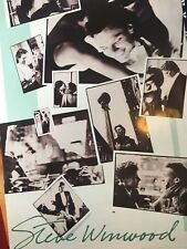 Traffic Steve Winwood Back In The High Life Rare Promo Poster 1986