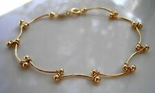 REAL STAMPED 9CT GOLD GF BRACELET,STUNNING,ALMOST SOLD OUT,LAST FEW LEFT ref044