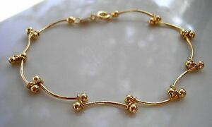 BEAUTIFUL 9CT GOLD GF BRACELET, STUNNING, NEARLY GONE from 9ct gold bling 44