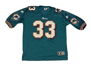 Vintage Starter NFL Miami Dolphins Kareem Abdul-Jabbar #33 Jersey Size XL.