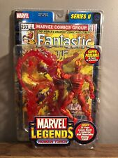 2002 ToyBiz Marvel Legends Series II HUMAN TORCH Fantastic Four Variant Figure