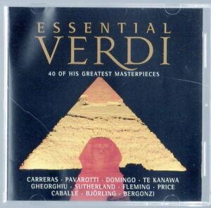 Essential Verdi Audio CD 2 Disk Set