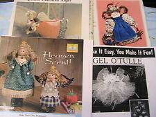 5 CLOTH DOLL PATTERNS~FLYING GUARDIAN~POTPOURRI~CELESTE~O'TULLE *RARE OoP 1994