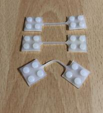 3x Vintage Lego - Anhängerkupplung 2x2 Transparent Clear Weiß Alt