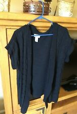 Liz and Me sz 0x 14/16 black short sleeved cardigan