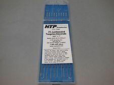 10 HTP 2% Lanthanated Tungsten TIG Electrodes .040 x 7 Blue