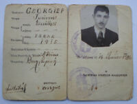 Greece 1936 ID Card for Bulgarian Citizen Without Right to work