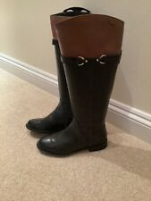 Clarks Riding Style Goretex Boots Black/Brown Trim Size 4 NEW