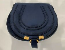 Chloe Mini Marcie Blue Leather Adjustable Crossbody~Authentic & Great Condition!