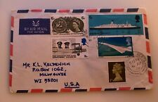1969 South England Airmail Transportation Anniversary Cover To Usa and