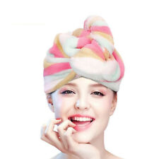 Turban Twist Dry Shower Coral fleece Hair Wrap Towel Cap Drying Bath Spa Head US