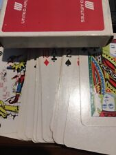 United Airlines Deck Of Playing Cards 54 Pc Used In Very Good Condition *